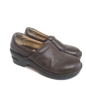 Born Brown Vegan Leather Clogs